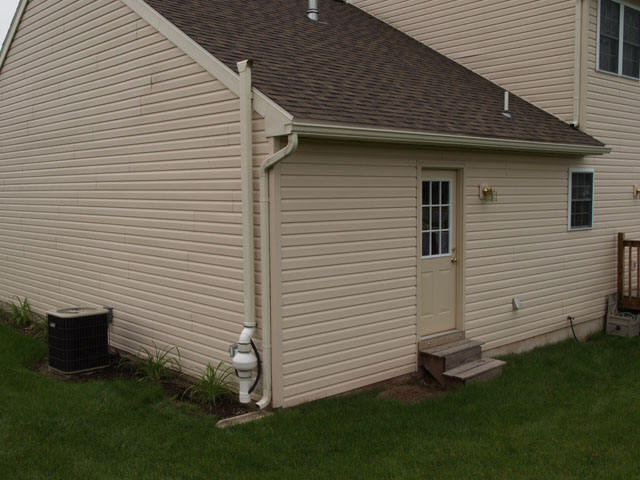 Matching downspout color