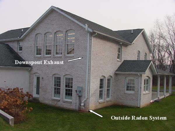 Outside radon system