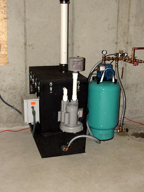 Radon In Water Mitigation System Photos Using Aeration Of